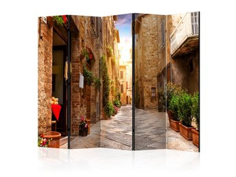 Rumsavdelare - Colourful Street in Tuscany II Room Dividers