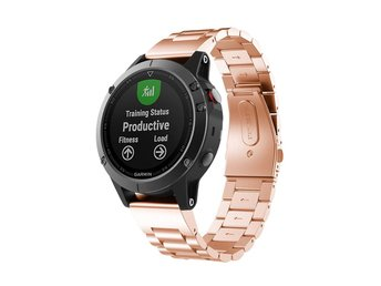 Garmin Fenix 5 stainless steel watch strap- Rose Gold
