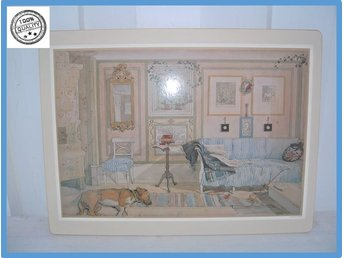 Carl Larsson bordstablett i kork Made in Sweden Som ny VINTAGE