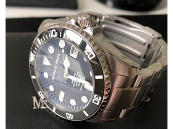MARC & SONS. MSD-044-SSS. DYKARUR 300M, Keramisk bezel, Safir, Superluminova mm