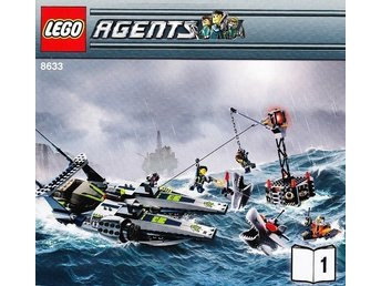 LEGO Agents 8633 Mission 4 Speedboat Rescue