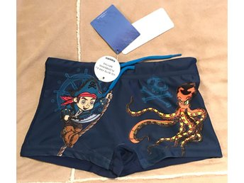 Coola Disney Jack & Piraterna Badbyxor Badbyxa Tights Blå  Stl. 98/104