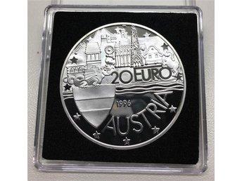 Proof Silvermynt 20 Euro Austria 1996 - Landskrona - Proof Silvermynt 20 Euro Austria 1996 - Landskrona