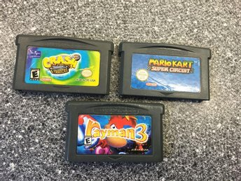 Spelpaket Game Boy Advance: Rayman , Mario mm