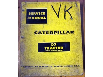 SERVICE MANUAL CATERPILLAR  D7 TRACTOR