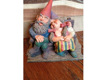 Gnomes Rien Poortvliet original, made in Holland.Trolltyg i skogen. Love forever