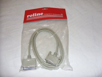 Roline AK1012 Bi-Directional parallel printer cable 1.8 meter ny! new!