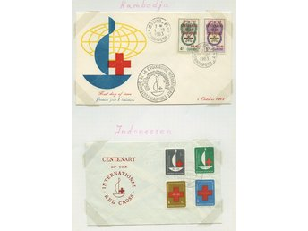LOT T3641 RED CROSS - RÖDA KORSET /ASIEN -  TVÅ  ILLUSTRERADE BREV.