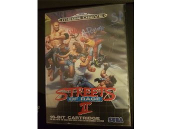 Streets of Rage 2 - Mega Drive (Komplett med manual)
