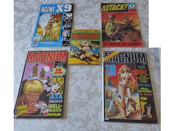 5 st serie. Agent X9, Magnum, Attack, Buster.