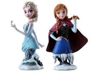 Frozen skulpturer Elsa & Anna, limited edition, Disney Showcase Collection