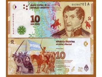 Argentina 10 Pesos 2016 New Design UNC