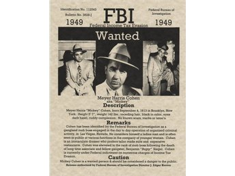 FBI WANTED POSTER MEYER HARRIS COHEN AKA MICKEY 1949