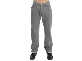Gray Cotton Straight Fit Jeans Waist Size: W34