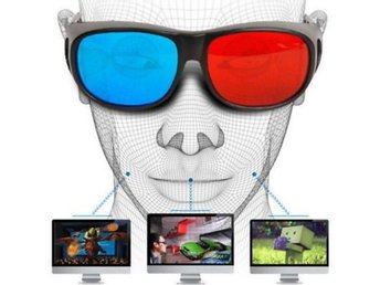 1Pair 3D Glasses Home Computer TV Spe...