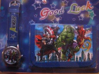 Disney Avengers Hulk - Set med Klocka och Plånbok KP5 - Uddevalla - Disney Avengers Hulk - Set med Klocka och Plånbok KP5 - Uddevalla