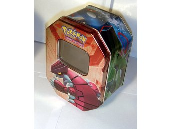 NY TOM POKEMON ORGINAL PLÅT BOX  GROUDON  EX   ÄLDRE   TIN