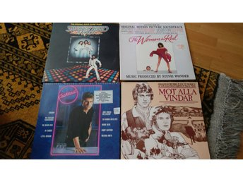 Paket 5 5 LP Cocktail, Saturday night fever, Mot alla vindar, Woman in Red