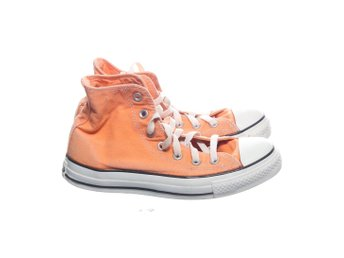 Converse, Tygskor, Strl: 37.5, Orange/Vit