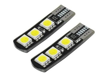 4 X CANBUS LED CAR Lampor T10 194 Blade 6 SMD5050 6000K AUTO Led Light Lampa