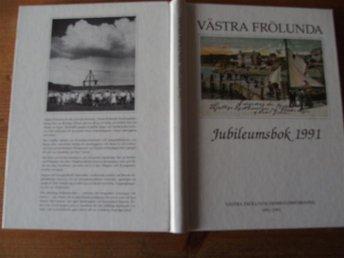 Västra Frölunda hembygdsförening jubileumsbok 1991 Göteborg skärgård fartyg - Klövedal - Västra Frölunda hembygdsförening jubileumsbok 1991 Göteborg skärgård fartyg - Klövedal