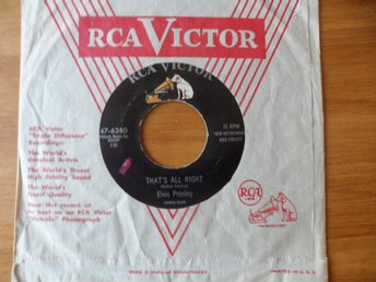 Elvis Presley: That´s all right/ Blue moon of Kentucky. Original!  RCA, USA 1955