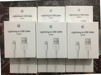 2m iPhone Laddare USB Kabel Kablar Cable till iPhone 5/5c/5s/6s/6+/7/7+/8/8+/X