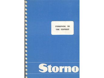 Servicemanual Storno Stornophone 700 Tone Equipment