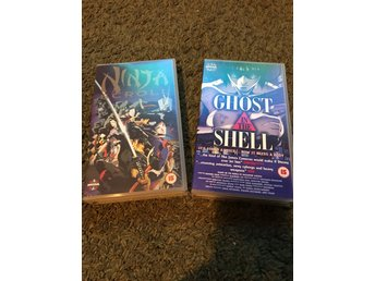 Anime Ninja scroll, Ghost in the shell x 2 vhs