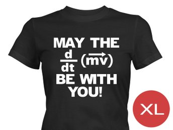 May The Force Be With You T-Shirt Tröja Rolig Tshirt med tryck Svart DAM XL