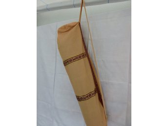 Hand Made Pale Orange Cotton Yoga Mat Cover With Pocket & Zipper