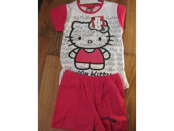 T-Shirt Tröja Barn Hello Kitty Pyjamas T-shirt + Shorts Rosa vit 9-10 år THN