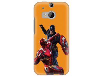 HTC One M8 Skal Iron Man Vs Captain