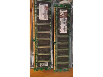 2 stycken Kingston kvr400x72c3a 512MB moduler (totalt 1GB)