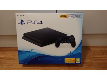 Playstation 4 Slim 500GB Svart - HELT NY!