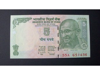 (80) INDIEN 5 RUPPES 2009 UNC