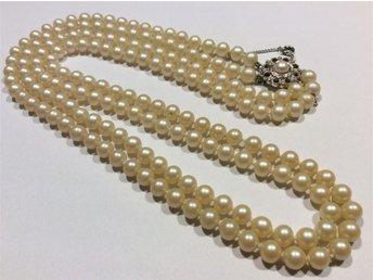 Retro / vintage halsband / pärlhalsband 60 cm långt. Oäkta. - Svängsta - Retro / vintage halsband / pärlhalsband 60 cm långt. Oäkta. - Svängsta