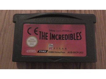 Game Boy Advance The Incredibles 2004 Pixar/Disney Utan Förpackning
