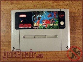 Jungelboken / Jungle Book till Super Nintendo / Snes - BERGSALA SCN