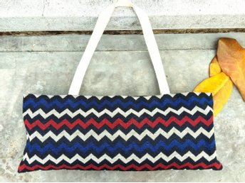 Chevron Woven Cotton/ Yoga Tote Bag/Travel Tote.