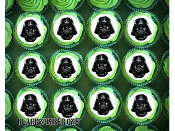 Star Wars - Darth Vader - Tårtoblater - Cupcake / Muffin toppers