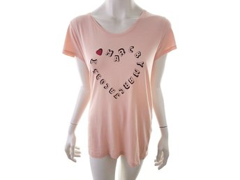 Marc Jacobs Short Sleeve Blouse Size M Pink inscription