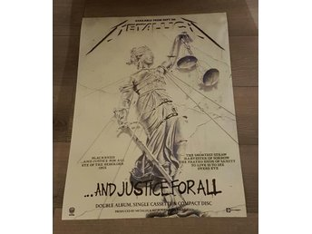 METALLICA ...AND JUSTICE FOR ALL 1988 PHOTO POSTER