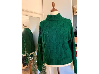 H&M. Stickad grön tröja, stl XS (393764925) ᐈ Köp på Tradera