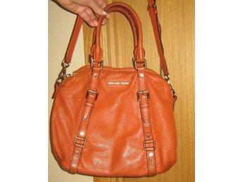 orange skinnväska MICHAEL KORS väska axelremsväska st 40x30x11cm