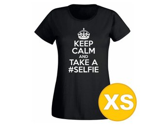 T-shirt Keep Calm And Take A Selfie Svart Dam tshirt XS