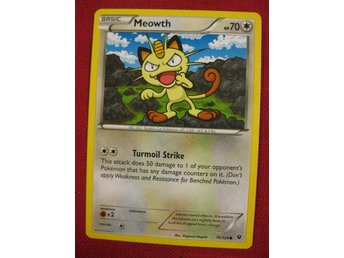 MEOWTH - POKEMON - NYTT KORT - FATES COLLIDE 74/124