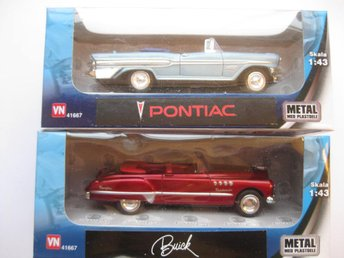 VN Leksaker Bilar Metall USA 2-Pack Buick / Pontiac 1:43 NR4 - Uddevalla - VN Leksaker Bilar Metall USA 2-Pack Buick / Pontiac 1:43 NR4 - Uddevalla
