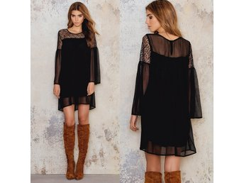 REA  REA  Louisa Lace Dress-Black-R&C-34