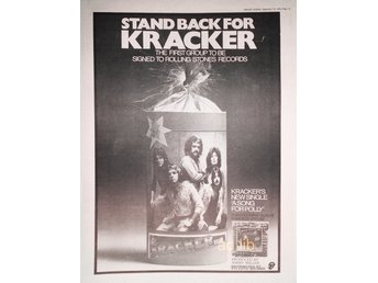 KRACKER - FIRST GROUP ON ROLLING STONES RECORDS, STOR TIDNINGSANNONS 1973